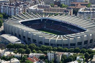 Stade du Parc des Princes, de l'equipe de football du Paris Saint Germain. Ligue 1  sport