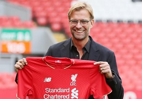 Klopp, en su presentación el pasado octubre con el Liverpool