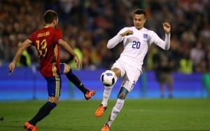 Dele Alli se enfrentó a Jordi Alba y a la selección española en un amistoso hace escasos meses