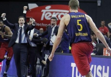 Justin Doellman anotó la canasta de la victoria ante el Real Madrid en el BarclayCard Center