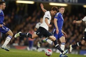 El coreano Son marcó el segundo tanto del partido antes del descanso. Los Spurs parecían tener controlado el derby.