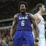 Con 9 puntos y 16 rebotes, DeAndre Jordan fue uno de los factores claves para el triunfo de Estados Unidos ante España.