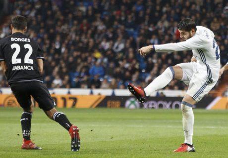 Morata fue el encargado de abrir el marcador en la primera ocasión clara de la segunda mitad, poniendo el 1-0 para el Real Madrid.