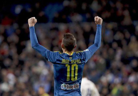 Iago Aspas fue el mejor jugador del Celta de Vigo en la victoria del equipo celtiña en Madrid.