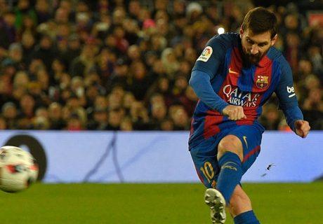 Messi marcó su tercer gol de falta directa en la última semana, decidiendo la clasificación del equipo para los cuartos de final de la Copa del Rey.