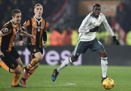 Paul Pogba fue decisivo con su gol en el KCOM Stadium para el pase de los Diablos Rojos a la final de la Copa EFL.