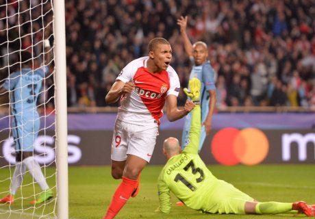 Ante la baja por lesión de Falcao, Mbappé fue la gran amenaza para el Manchester City, marcando el primer gol del partido.