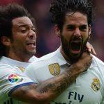 Dos goles de Isco en El Molinón le dieron la victoria al Real Madrid, que llegará como líder al Clásico de la próxima semana.