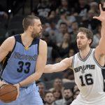 Los hermanos Gasol serán el centro de atención en la eliminatoria de primera ronda de la Conferencia Oeste entre Spurs y Grizzlies.