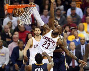 LeBron James y el Big Three de los Cavaliers están teniendo que rendir a tope para lograr que los campeones ganen los dos primeros choques ante los Indiana Pacers.