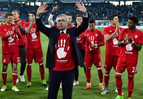Carlo Ancelotti ganó su primera Bundesliga en su primera temporada al frente del Bayern Munich.
