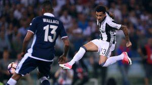 Dani Alves sigue lanzado en este final de temporada, siendo el autor del primer gol de la Juventus en la final de la Copa de Italia.