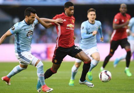Marcus Rashford fue decisivo en Vigo, marcando el gol de la victoria del Manchester United ante el Celta de Vigo por 0-1.