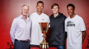 Andrew Gaze, Scottie Pippen, Andrei Kirilenko y Yi Jianlian ejercieron como embajadores del sorteo de la primera fase de clasificación para el Mundobasket 2019.
