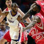Chris Paul y James Harden serán compañeros en los Houston Rockets la próxima temporada.