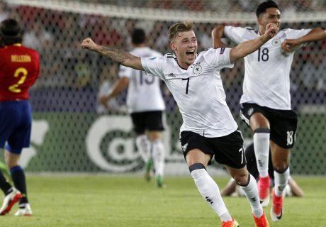 Alemania ganó su segundo Europeo Sub-21 con un solitario tanto de Weiser en el minuto 40 de partido.