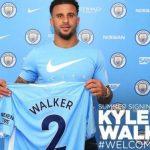 Kyle Walker llega al Manchester City procedente del Tottenham Hotspurs a cambio de 57 millones de euros.