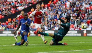 Victor Moses abrió el marcador con un gol aprovechando un rechace justo tras la reanudación.