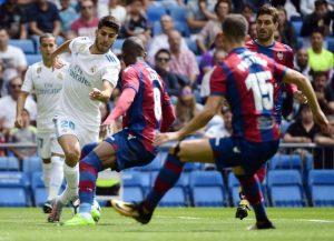 Marco Asensio jugó los 90 minutos del partido de su equipo ante el Levante y, como ante el Valencia, no pudo liderar al campeón español a la victoria.