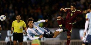 Paulo Dybala no pudo brillar en el triste empate de Argentina contra Venezuela en el Monumental.