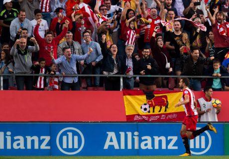 Christian Stuani empataba el partido para el Girona, liderando la remontada local ante el Real Madrid.