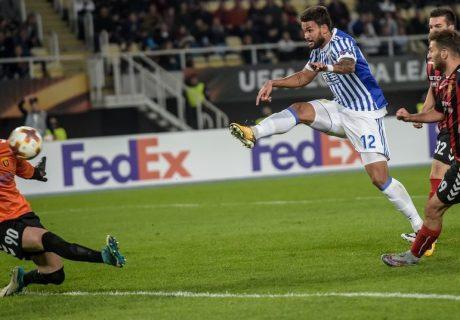 William José marcó 4 de los 6 goles de la Real Sociedad en su victoria en Macedonia.