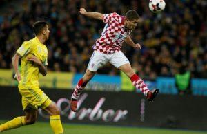 El delantero del Hoffenheim Kramaric abrió el marcador en Kiev, en la clave victoria croata.