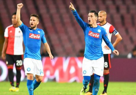 Dries Mertens y José Callejón suman 11 de los 25 goles que ha marcado el equipo napolitano en las primeras 7 jornadas.