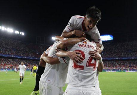 El tanto de Guido Pizarro en el descuento culminó la remontada sevillista ante el Liverpool.