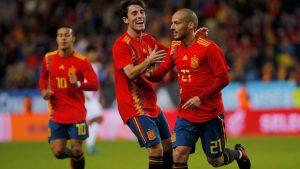 David Silva logró otro doblete en la goleada española ante Costa Rica (5-0).