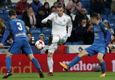 Gareth Bale revolucionó el partido tras entrar al terreno de juego para disputar la última media hora ante el Fuenlabrada.