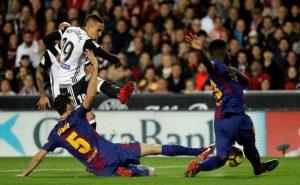 Rodrigo Moreno marcaba el tanto que abría el marcador, dedicándoselo al fallecido Jaume Ortí.