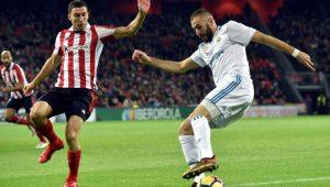 Después de marcar en los dos partidos anteriores, Karim Benzema se quedó sin marcar en San Mamés.