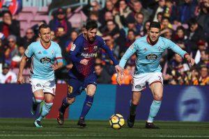 Messi rompió una sequía goleadora de 4 partidos, marcando el primer tanto culé ante el Celta.