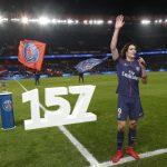Edinson Cavani se convirtió en el máximo goleador de la historia del PSG con su gol en la victoria por 4-0 sobre el Montpellier.