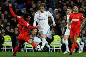 Sin Casemiro a su lado, Luka Modric jugó un partido brillante tanto en ataque como en defensa.