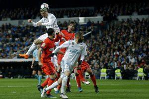 Cristiano Ronaldo ponía el 4-0 en el marcador en la primera mitad con un gran remate de cabeza.