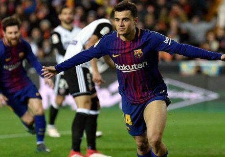 Philippe Coutinho se estrenó como goleador en el mejor momento para el Barça, que buscará su cuarto título consecutivo en la Copa del Rey.