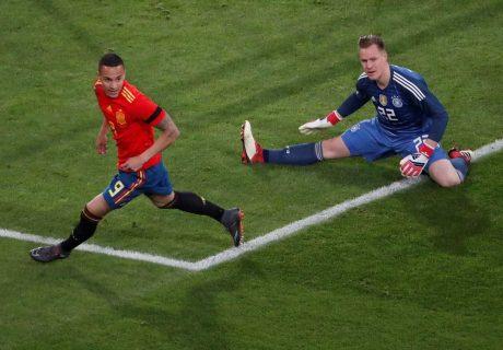 Rodrigo Moreno abrió el marcador, batiendo a Marc-André Ter Stegen tras un remate bajo ante el que nada pudo hacer el cancerbero del Barça.