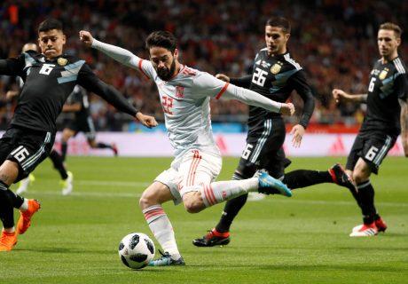Isco Alarcón marcó su primer hat trick como profesional, siendo el pilar de España ante Argentina en el Wanda Metropolitano.