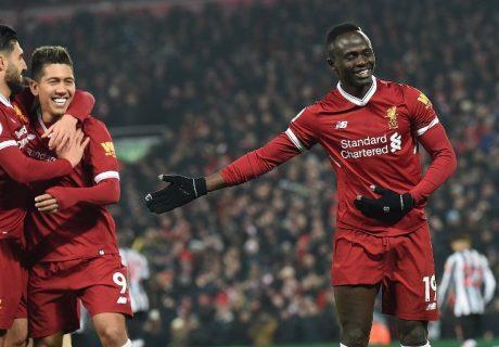 El extremo senegalés Sadio Mané marcó el segundo tanto en la victoria de los Reds ante el Newcastle.