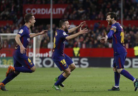 El Barça empató a 2 en Sevilla en los instantes finales, liderados por un Messi que entró en los últimos 30 minutos.