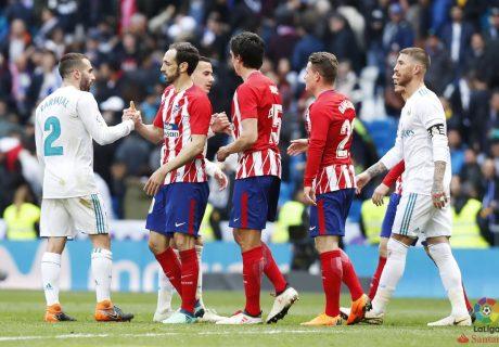 Real Madrid y Atlético de Madrid firmaron un empate en un insulso Derby de Madrid que acerca el título de liga un poco más al FC Barcelona.