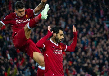 Roberto Firmino y Mohamed Salah marcaron 4 goles y 4 asistencias entre los dos en la contundente victoria de los Reds en Anfield.