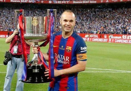 Andrés Iniesta levantó su última Copa del Rey con el FC Barcelona al derrotar al Sevilla por 5-0 el pasado sábado.