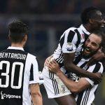 La Juventus remontó un 2-1 en contra en los 10 últimos minutos del choque en San Siro.