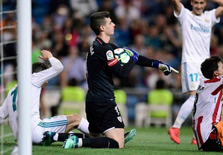 Kepa jugó un gran partido en su primera visita al Estadio Santiago Bernabéu.