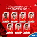 3 jugadores del Athletic Club son parte de la lista de 7 que entrenarán con España para preparar el Mundial 2018.