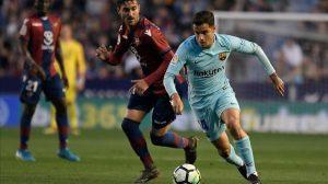 Philippe Coutinho marcó 3 de los 4 goles del Barça en la primera derrota culé en toda la Liga Santander.
