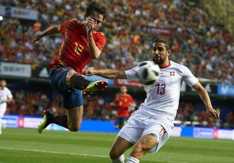 El joven Álvaro Odriozola fue el autor del gol de España que acabó dando el empate a los de Lopetegui ante Suiza.